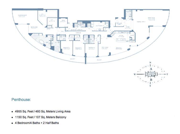 Echo Brickell Miami Penthouse Floor Plan Echo Brickell