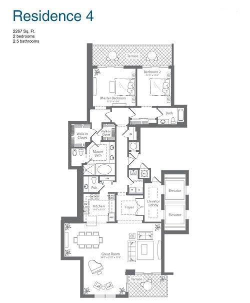 The diplomat residences blintser group for 4 unit condo plans