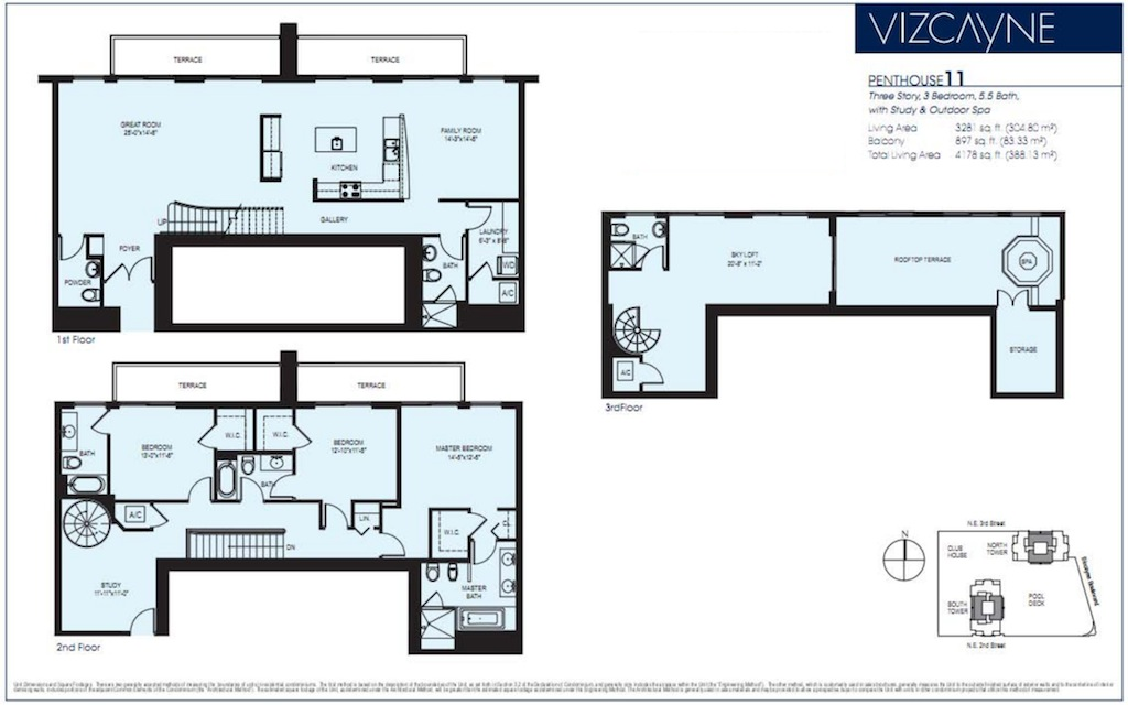 Vizcayne blintser group for Two story condo floor plans